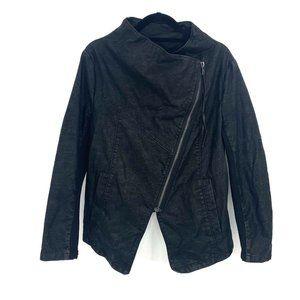 H&M Womens Plus 16 Moto Jacket Black Vegan Leather